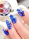 1st Hexagonal Glitter Tabletter nagel konst Dekorationer NO.1-6 (blandade färger)