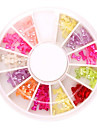 144PCS 12 Couleur Transparent Bow Tie Nail Art Acrylique Décorations