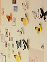 livfullt fjärilsdesign klistermärken (15 st, slumpmässig färg)