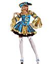 Costumes de Cosplay / Costume de Soirée Déguisements Thème Film/TV Fête / Célébration Déguisement Halloween Bleu Mosaïque Robe / Chapeau