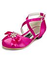 Satin Klänningar Flickors Bröllop Flat Heel Komfort lägenheter med Rhinestone Skor (Fler färger)