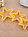 Plastique étoile à cinq branches Biscuits Mold Set de 3 pièces, 10.3x5.2x1.1cm (couleur aléatoire)