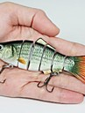 Vente chaude 17g 10,2 cm Leurres Leurres en plastique 6 segments Minnow leurres de pêche (2pcs)