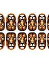 12st Lion Mönster Luminous nagel konst Stickers