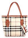 Erlen Kvinnors koreanska Stil Casual testmönster hänger / Ett Shoulder Bag Set (Sreen Color)