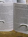 söta bärbara 14,5 * 12 * 4 silikon bokmärken& klipp (rosa, vit, 1st)
