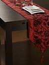 Model floral Red alergător de masă