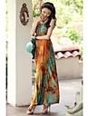 Femei Classic împletitură Neck Maxi Dress
