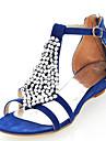 Suede Kvinnors låg klack Comfort Sandaler Skor (fler färger)