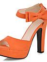 Talon Chunky plate-forme Sandales Chaussures similicuir femmes (plus de couleurs)