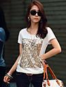 Femei Casual Sequin T-Shirt