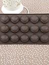 Boîte de couleur de gâteau de silicone de visage souriant Moule à Chocolat, 21.5x10.8x1.4cm (couleur aléatoire)