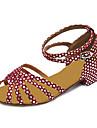 Chaussures de danse(Fuchsia) -Non Personnalisables-Talon Bottier-Similicuir-Latine