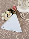 Plastic Triangle beurre Scraper Avec dents de scie, 10x10x0.2cm