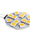 G4 6W 12x5050SMD 2800-3500K LED Warm White Light spot bec (DC 12)