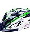 FJQXZ EPS + PC Vert et Noir moulée intégralement Casque de vélo (18 Vents)