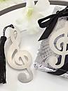 söt ihåliga musik noterar med tofsar 8,8 * 3,6 * 1 metall bokmärken& klipp (silver, 1st)