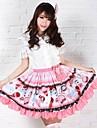 Jupe Doux Princesse Cosplay Vêtrements Lolita Incanardin Imprimé Lolita Moyen Jupe Pour Femme Polyester