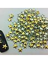 100PCS Star Punk Golden Rivet Nail Art Dekorationer