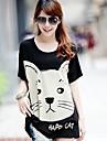 Femei de înaltă calitate de imprimare libere Big Yards cu maneci scurte T-Shirt Modal Stretch libere Big Yards T-Shirt
