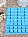Silikon Engelska Letters Cake Ice Choklad Mould, 24x18.3x1.5cm (Random färg)