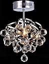 5W E27 Crystal Pendant lampa för Living Room kristallkronor för Matsal