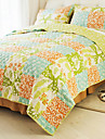 huani® täcke set, 3-delat 100% bomull lantlig stil rutmönster färgstarka våren