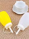 Plastique de forme de citrouille condiments bouteilles pots de confiture Set de 2 pièces, 13x6cm (couleur aléatoire)