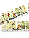 4x7PCS Grâce Nostalgie de Paris Nail Art Stickers