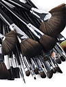 24PCS Professional Hög kvalitet Makeup Brush Set med perfekt svart handtag
