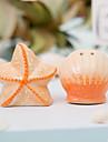 Ceramică Favoruri practice-2 Ustensile de Bucătărie Temă Plajă Galben Etichetă