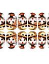 12PCS Härlig Bär hatt av Kitten Mönster Luminous Nail Art Stickers