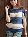 Femei Batwing Loose Hollow Stripe Pullover pulover Jumper