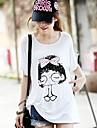 Femei de înaltă calitate de imprimare libere Big Yards cu maneci scurte Modal Stretch Bow Girl T-Shirt