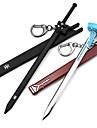Mer accessoarer Inspirerad av Sword Art Online Kirito Animé Cosplay Accessoarer Svärd / Nyckelring Svart / Blå Man / Kvinna