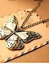 Femeile Vintage fluture pandantiv colier