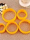 Plastique rond de biscuit Mold Set de 5 pièces, 10x10x4cm (couleur aléatoire)