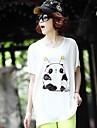 Femei de înaltă calitate de imprimare cu maneci scurte T-Shirt Modal Stretch libere Big Yards Panda T-Shirt