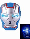 Cosplay Iron Man Mask med Blue Light-Up Ögon - Blå (3 x AG13)
