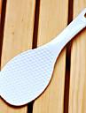 Plastique de haute qualité de riz blanc Spoon, L19cm x W6.5cm x H1cm