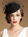lână superb cu nunta / petrecere / Lună de miere pălărie tul (1192-404)