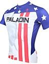 PALADIN® Maillot de Cyclisme Homme Manches courtes Vélo Respirable Séchage rapide Résistant aux ultraviolets Maillot Hauts/Tops100 %