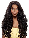 24inch Vackra Wave High Temperature Synthetic Front Lace Wig 6 Color Kan Valt