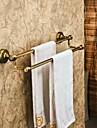 Barre porte-serviette Bronze Antique Fixation Murale 60*14cm(23.62*5.51inch) Laiton Antique