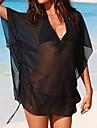 Femei sexy negru Mesh Sheer Beach Costume de baie Cover Up Bikini Dress