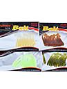 12 st Mjukt bete / Lock förpackningar / Fiskbete Lock förpackningar / Mjukt beteGrön / Gul / Others / Blandade färger / transparent / Röd