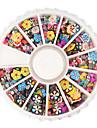 1200PCS Mix Mélange strass en forme d'ongle Décorations d'art (formes aléatoires)