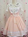 Innocent écolière Light Pink Polyester manches Sweet Lolita Robe