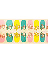 Olika Summer Color Full Finger Designs Of Nails Art Stickers Patch för bruden