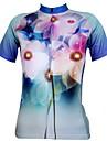ILPALADINO Maillot de Cyclisme Femme Manches courtes Vélo Maillot Hauts/Tops Séchage rapide Résistant aux ultraviolets Respirable100 %